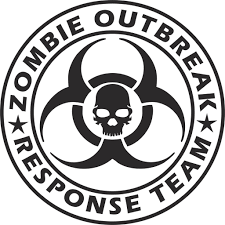 Zombie Outbreak Response Team Vinyl Decal Sticker Label Decals N More