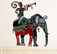Elephant Trumpet Man Wall Sticker Tenstickers
