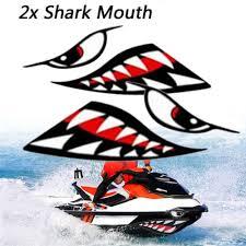 Auto Parts Accessories 2xcar Boat Kayak Shark Teeth Mouth Eyes Vinyl Waterproof Decal Funny Sticker Br Smaitarafah Sch Id