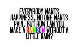 happiness quote rain rainbow sofis image on com
