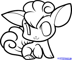 Chibi Pokemon Vulpix Coloring Pages Get Coloring Pages