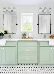 dual washstand with black pivot mirrors