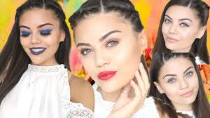 festival inspired glitter makeup