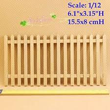 Amazon Com 1 12 Dollhouse Miniature Fences Picket Fence Wall Decor Wood Bar 6 1 H Lot 2 Pieces Toys Games