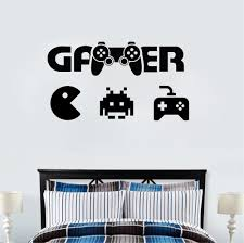 Gamer Life Wall Sticker Video Game Controller Wall Decal Kids Room Decor