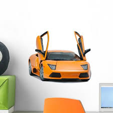 Yellow Lamborghini Car Wall Decal Wallmonkeys Com