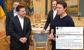 Twitter users point out that Ukraine President made Tom Cruise ...