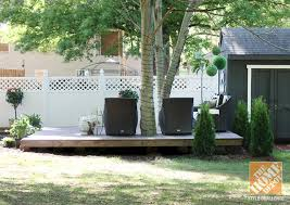 ideas on how to build a floating deck
