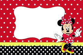 Minnie Rojo Invitaciones Para Imprimir Gratis Invitaciones
