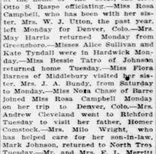 Rosa Campbell stays with her sister Myrtle Campbell Utton and ...