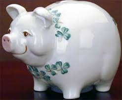 irish piggy bank belleek