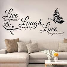 Live Laugh Love Quotes Butterfly Wall Art Stickers Living Room Decal Home Decor Walmart Com Walmart Com