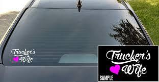 Amazon Com Celycasy Wife Trucker S Wife Wife Decal Wife Sticker Trucker Sticker Heart Love Vinyl Sticker Trucker S Wife Vinyl Sticker Truck Wife Decal Baby