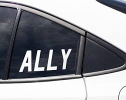 Ally Decal Etsy