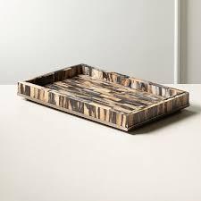 decorative coffee table trays cb2