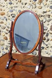 antique mahogany oval dressing table