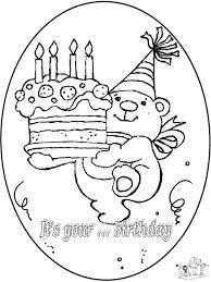 Verjaardag 4 Jaar Kleurplaten Verjaardag