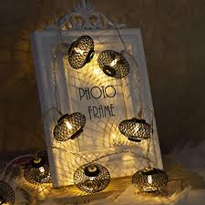 Amazon Com Eambrite Metal Black Lantern String Lights 10 Led Warm White Fairy Lights Battery Operated Indoor Decoration For Easter Birthday Wedding Window Desk Mantelpiece Party Kids Room Bedroom Home Improvement