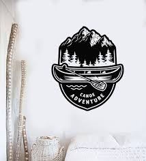 Vinyl Wall Decal Canoe Adventure Boat Canoeing Club Water Sports Stick Wallstickers4you