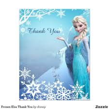 Frozen Elsa Birthday Party Thank You Zazzle Com Invitaciones