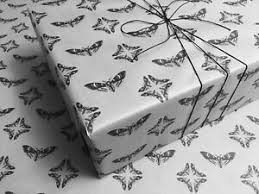 white gothic wrapping paper