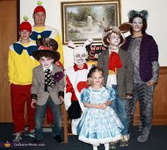 wonderland homemade family costumes