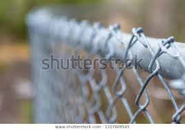 Curved Chain Link Fence Top Rail Stock Photo Edit Now 1107609545