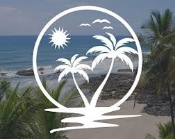 Palm Tree Car Decal Etsy