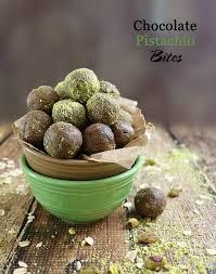 easy no bake chocolate pistachio bites