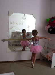 mirror and ballet barre for kids room