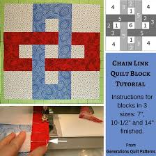 Chain Link Quilt Block Pattern 7 10 1 2 And 14