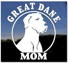 Amazon Com Great Dane Mom Great Dane Vinyl Window Auto Decal Sticker Kitchen Dining