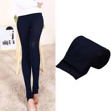Leggings Open Foot Fleece Lined Thermal Slim Skinny Stretch Warm ...