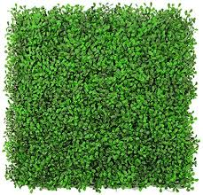 Artificial Hedge With Floral Imitation Green Privacy Screen Background Wall Outdoor Fake Fence Pad Panel Lattice Wall Decoration 50x50cm Color 01 Amazon Ca Home Kitchen