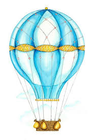 Blue Hot Air Balloon Wall Decals By Cling Flowers And Ruffles