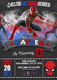 Spiderman Birthday Invitation En 2020 Cumpleanos Spiderman