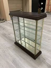 small glass mirror display cabinet