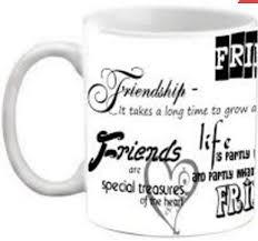 friendship quotes printed coffee ceramic mug at rs laxmi