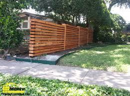 Horizontal Cedar Slatted Fence Dallas 3 Png 4x4 Black Steel Posts 3 5 Lateral Cedar Slats Wood Fence Design Modern Fence Fence Design