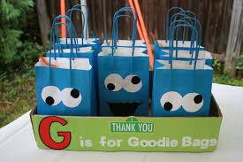 Cookie Monster Goodie Bags Cookie Monster Party Monster Cookies Monster Baby Showers