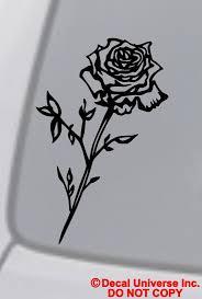 Rose Vinyl Decal Sticker Car Window Bumper Wall Laptop Flower Black Love Symbol Vinyl Decal Stickers Vinyl Decals Love Symbols