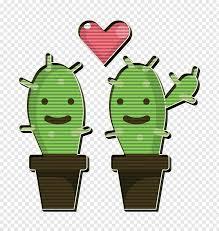 Wedding Icon Cactus Icon Green Cartoon Plant Png Pngbarn