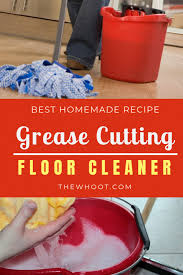 homemade grease cutting floor cleaner