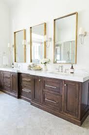 bathrooms furniture oval wood mirror