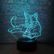 7 Màu Sắc Mèo 3D LED Đèn Ngủ Trang Trí Để Bàn Pin USB Cảm Ứng Cảm Biến Sáng  Tạo Sạc Bóng Đèn Cho Phòng Ngủ Cho Bé luminar|