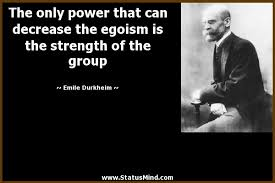 the only power that can decrease the egoism is the com