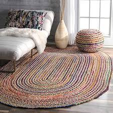 braided oval rugs com