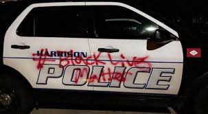 Police Cars Vandalized Peaceful Protests Planned In Harrison Arkansas