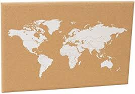 Amazon Com Cork Board World Map With Push Pin Adventure World Map For Travelers World Map Wall Art Wood Map Home Or Office Decor Office Products