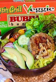 easy veggie burger bowl with cilantro